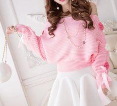 "creepycutieprincess: ""    ♡   Sweet Flowers Strapless Sweater   ♡   from 【❤ Sweet Hime ❤】 """