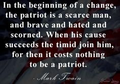 "For all you Patriots out there who were Conservative when being Conservative ""wasn't cool"" and taking a stand meant going against the politically correct masses ... who have lost friends and made enemies over simply sharing your passion to save your country.. THIS IS FOR YOU.. HANG IN THERE.. THE BATTLE IS NOT OVER AND WE ARE MAKING PROGRESS! I love and admire you all for your courage!"