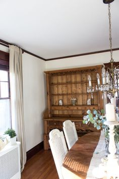 Adding some antiques to the dining room I English Welsh Dresser