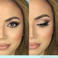 Natural matte eyemake up with matte lips