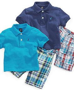 Baby Boy Clothing  - Macy's  I'm addicted to the plaid shorts for Haiden!!