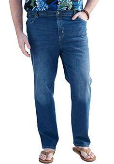 Ks Island Men's Big & Tall Lightweight Jeans Mens Big And Tall, Big & Tall, Guayabera Shirt, Island Man, Tall Jeans, Big And Tall Outfits, Elastic Waist Pants, Cotton Spandex