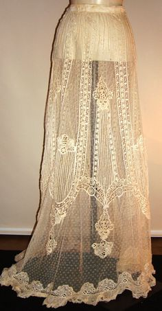 Circa 1930s handmade lace wedding skirtperfect by JandVAddicted, $358.00