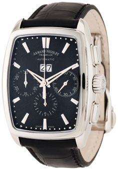 Luxury watches Armand Nicolet Men's 9638A-NR-P968NR3 TM7 Classic Automatic Stainless-Steel Watch