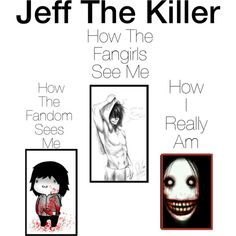 Jeff The Killer by dragonladydoctor on Polyvore featuring polyvore and art