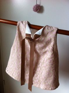 robe dentelle rose poudre, blouse, tunique bébé ou enfant 18-24 mois : Mode Bébé par sheren