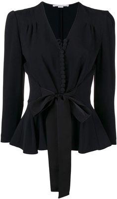 Stella McCartney Taylor tied waist blouse Rock Chic, Hijab Fashion, Fashion Outfits, Womens Fashion, Tennis Fashion, Rocker, Couture Tops, Style Vintage, Fashion 2020