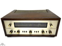 Beautiful restored Fisher 800-B stereo tuner and amplifier. www.aeaaudio.com #audiophile #tubeamp Audiophile, Fisher, Restoration, Tube, Electronics, Rock, Cool Stuff, History, Classic