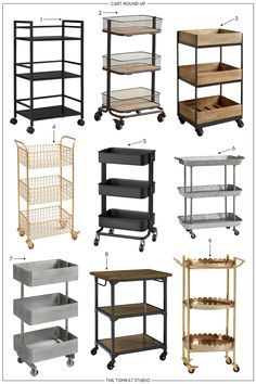 white cart as nightstand homey oh my We LOVE carts Sure we love a good styled bar cart but there are so many more uses for carts that you are not thinking of We decided to put together this post to show you a few fresh ideas on how to use tiered carts in Study Room Decor, Cute Room Decor, Room Ideas Bedroom, Diy Bedroom Decor, Home Decor, Spa Room Decor, Gold Room Decor, Gold Bedroom, Bedroom Designs