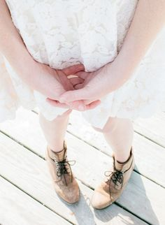 White lace + booties