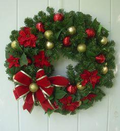 Christmas wreath evergreen wreath xmas wreath by DoorDecorShop