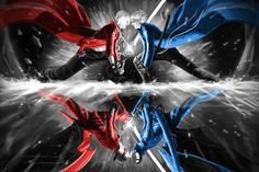 Dante vs Vergil DMC3 by ~Txikimorin on deviantART