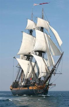 """jade-cooper: """" HMS Surprise (former HMS Rose), replica, built in sold to Century Fox in """" Moby Dick, Old Sailing Ships, Full Sail, Wooden Ship, Yacht Boat, Tug Boats, Sail Away, Ship Art, Wooden Boats"""