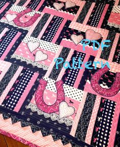 Western Baby Girl Quilt Pattern Cowboy quilt by ChristineJDesigns