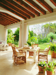 House Design, Colonial House, Farmhouse Design, House Architecture Design, Terrace Decor, Country Cottage Style, Patio Inspiration, Spanish Style Home, Outdoor Decor