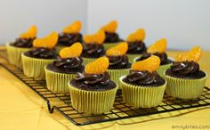 Emily Bites - Weight Watchers Friendly Recipes: Dark Chocolate Orange Cupcakes