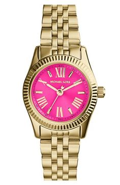 Fun colors on this Michael Kors watch