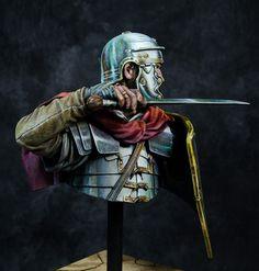 Roman Legionary Century by Ernest · Putty&Paint Roman Warriors, Roman Soldiers, 1st Century, Knight, Medieval, History, Antiques, Gladiators, Helmets