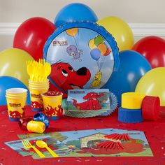 Personalized Clifford party supplies from Birthday Expressions...