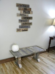 Wood Sign Pallet Sign Pallet Art Fruits of the by JNMRusticDesigns, $125.00