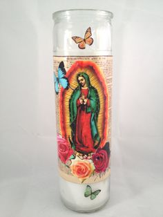 Virgen De Guadalupe Candle by AveRoseCollections on Etsy, $12.99