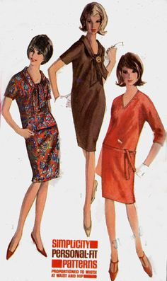 Vintage 60s Simplicity 6080 Womens Madmen Two Piece by sandritocat