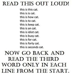 Do exactly what it says....make sure to read it out loud!!