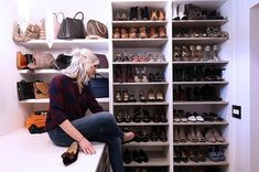 An organized closet makes getting ready so much easier. This is where a good millwork plan is essential. And obviously I love shoes. Closet Organization, How To Plan, How To Make, Shoe Rack, Easy, Shoes, Instagram, Design, Home Decor