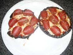 Lean and Green- portobello mushroom pizzas