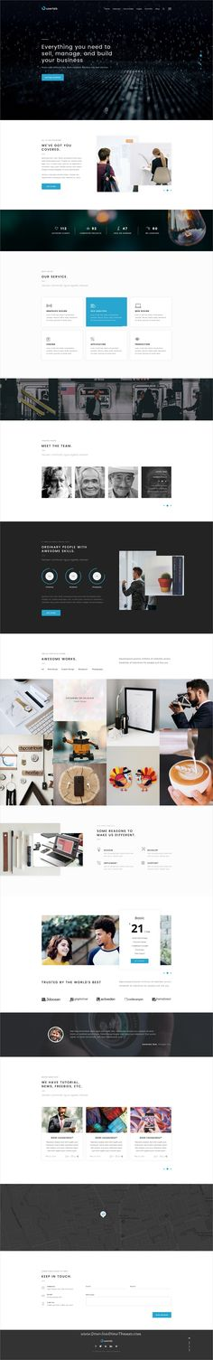 Userlab is clean and modern design onepage PSD template for creative business agency website to live preview & download click on Visit #psdmockups #webdesigners