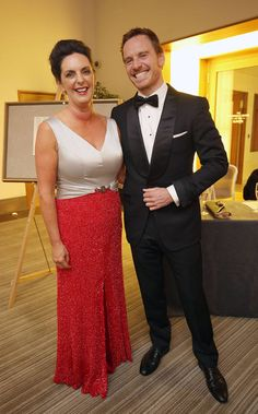 Michael Fassbender with President of Killarney Chamber of Tourism and Commerce Kate O'Leary, at the Killarney Chamber of Tourism and Commerce, Gala black-tie ball, at the Europe Hotel and Resort, Killarney, to honour Killarney Man and Hollywood Actor, Michael Fassbender, following his induction into the Order of Innisfallen.