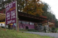 Ms. Be's Purple Bus near the Ocoee River area in TN is a must visit for everyone. Crashed in 1995 so Ms. Be turned it into a store to sell handmade items and it hasn't moved since