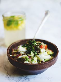 Young thai coconut ceviche // vegan, raw, gluten-free, soy-free, nut-free