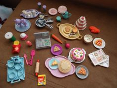 Lot of Barbie Accessories Food Baking Cooking and More