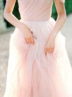 Pantone Rose Quarts + Serenity Wedding Inspiration - Style Me Pretty Pretty Wedding Dresses, Wedding Colors, Bridal Dresses, Bridesmaid Dresses, Tulle Wedding, Bridesmaids, Dream Wedding, Pantone 2016, Pantone Color