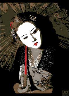 "Unhuman ""Geisha"" New Prints Available Now StreetArtNews Geisha Japan, Geisha Art, Japanese Face, Rock Posters, Street Art Graffiti, New Artists, Chinese Art, Asian Art, Art Blog"