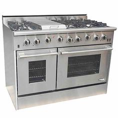 NXR 48 Inch Pro-Style Gas Range with 6 Sealed Burners, cu. Manual Clean Main Oven, Heavy-Duty Commercial Convection Fan, BTU Griddle and 4 Inch Backsplash: Natural Gas Kitchen Redo, Kitchen Remodel, Kitchen Ideas, Kitchen Designs, Kitchen Updates, Ikea Kitchen, Kitchen Dining, Cooking Appliances, Kitchen Appliances