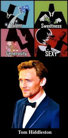 Tom Hiddleston... Now that I have the recipe I can make one of my own!!!!<< another pinned thought it was funny so I kept it :)