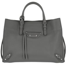 Balenciaga Handle Bag - Mini Paper A4 Tote Black Grey - in grey -... (73.680 RUB) ❤ liked on Polyvore featuring bags, handbags, tote bags, grey, mini tote, grey tote bag, purse tote bag, mini handbags and pocket tote