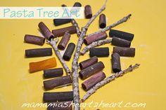 Mama Mia's Heart2Heart: Pasta Tree Art