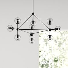 Modern Furniture and Decor for your Home and Office Mid Century Chandelier, Mid Century Lighting, Contemporary Chandelier, Sputnik Chandelier, Black Chandelier, Chandelier Lighting, Home Lighting, Modern Lighting