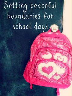 {Peaceful routines} What kind of rules do you keep in place during the school year to help improve learning, family connection and a smooth household? Here are 6 Peaceful Boundaries for School Days via Awesomely Awake #backtoschool