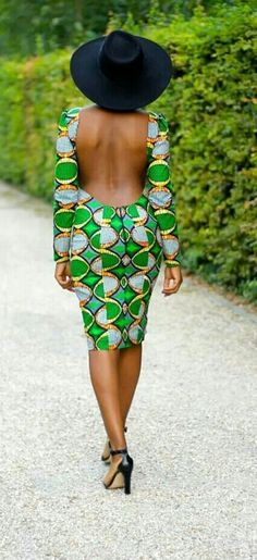 2014 Pretty Style Thoughts African print dress with low back Short African Dresses, Latest African Fashion Dresses, African Print Fashion, Ethnic Fashion, African Prints, African Print Dress Designs, African Design, African Wear, African Attire