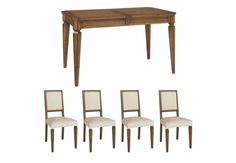 Extending Table and 4 Upholstered Chairs - Bentley Designs Grange - Dining Room Furniture | Furniture Village