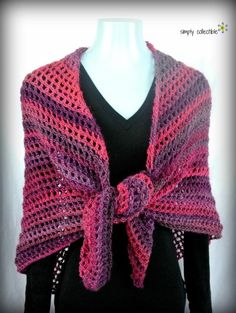 Coraline in the Wine Country, Shawl and Wrap free #crochet pattern by Celina Lane, Simply Collectible