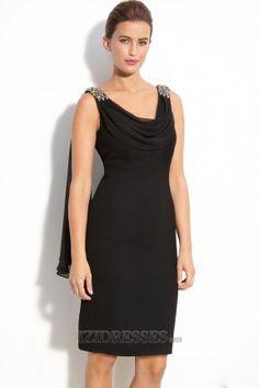 Sheath/Column V-neck Chiffon Satin Mother Of The Bride Dresses - IZIDRESSES.COM