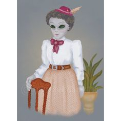 My Great-Great Grandmother Liliana Print by FullFrogMoon on Etsy