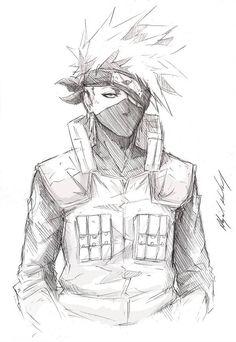 -Yo- by Abz-J-Harding - - Kakashi Hatake - by Abz-J-Harding on DeviantArt Naruto Drawings, Kakashi Drawing, Naruto Sketch, Anime Drawings Sketches, Anime Sketch, Manga Drawing, Anime Naruto, Naruto Art, Manga Anime