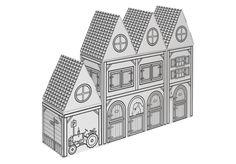Villa Carton City Blocks #Westernsaloon und #Farm ● Zum #Basteln und #Bemalen mit Vordruck. ● Ein kleiner Straßenzug bestehend aus 3 unterschiedlich großen Häusern. ● Mit vorgedruckten schwarzen Konturen. ● Beidseitig verwendbar, auf der einen Seite als #Westernstadt, auf der anderen Seite als #Farm. ● Aufgestelltes Format: 72 x 55 x 19 (BHT) ● #Wellpappe, #Karton, #Kreativ, #Spielen, #joyPac®, #Dinkhauser Kartonagen
