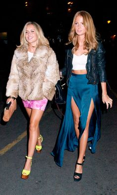 Caggie Dunlop And Millie Mackintosh At The Walkers Party, 2012